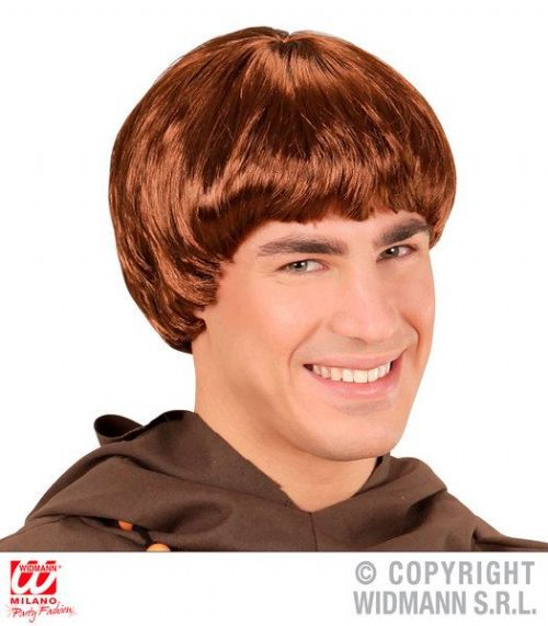 Monk Wig Holy Friar Tuck Bishop Father Fancy Dress Cosplay